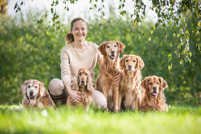 Cocker Spaniel Golden Retriever Über mich TierEmotion Stefanie Krause Steffi Garten grün Natur frei glücklich